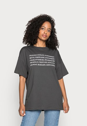 T-shirt con stampa - anthracite