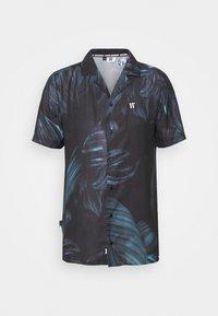 11 DEGREES - TROPCIAL RESORT SHIRT - Camisa - black/green/purple - 4