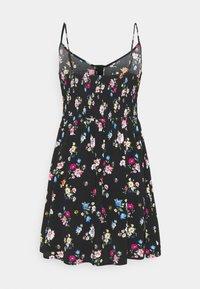 Even&Odd Petite - Kjole - black/multi-coloured - 1