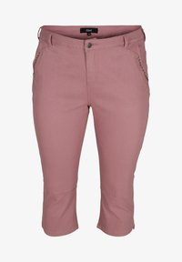 Zizzi - Denim shorts - dark rose - 2