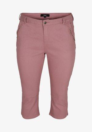 Denim shorts - dark rose