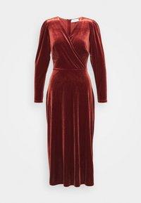 WRAP DRESS - Cocktail dress / Party dress - rust