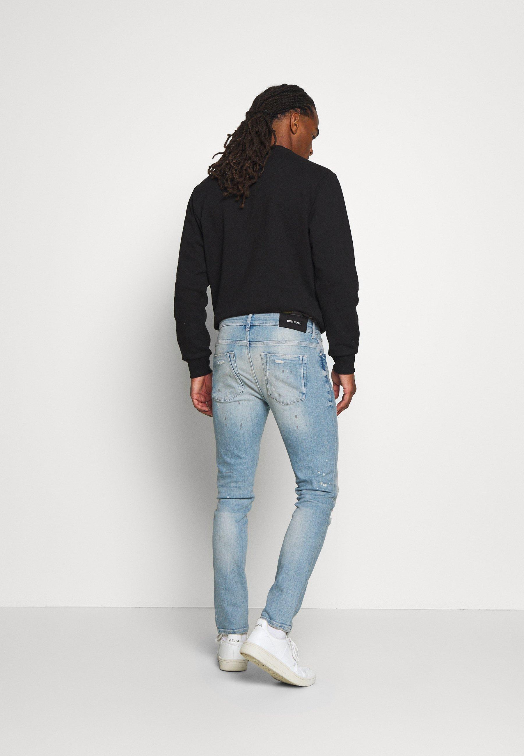 River Island Jeans Slim Fit - Light Blue