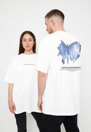 BUTTERFLY - Print T-shirt - white