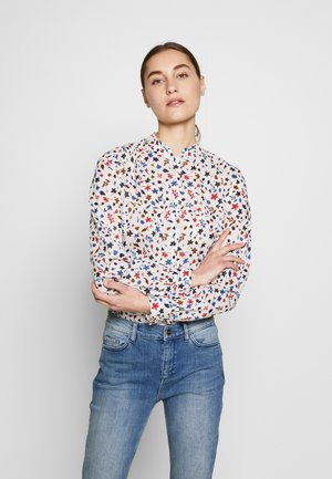 BLOUSE STAND UP COLLAR  - Button-down blouse - multi-coloured