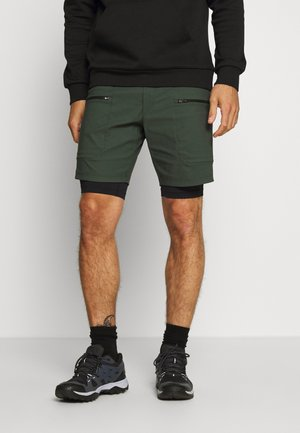 TRACK SHORTS - Sports shorts - drift green
