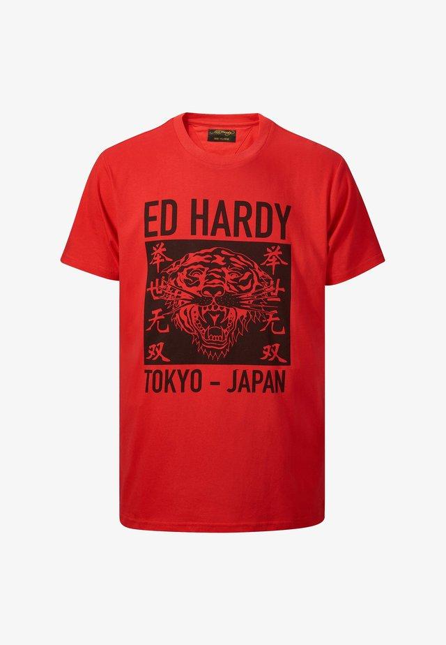 TOKYO-ED T-SHIRT - T-shirt print - red