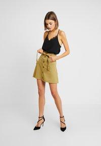 Even&Odd - Falda de tubo - khaki - 1
