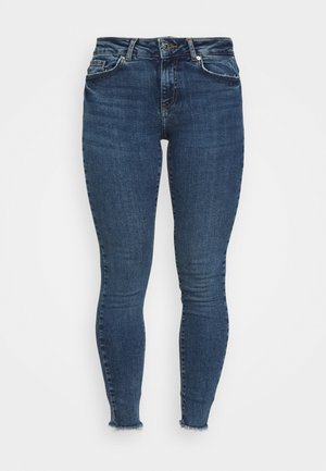 VMHANNA RAW - Skinny džíny - medium blue denim