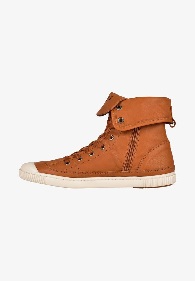 BERENICE F2G - High-top trainers - camel