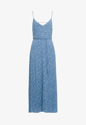 Maxi dress - aop - leaf sea blue