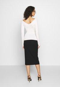 Even&Odd - BARDOT NECKLINE - Sweter - white - 2