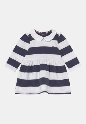 BABY RUGBY STRIPE DRESS - Day dress - twilight navy