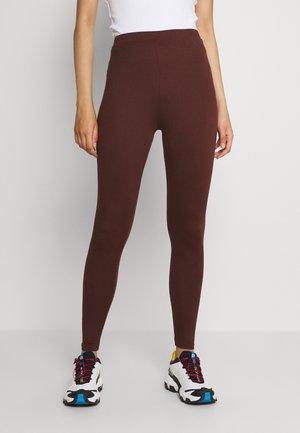 VIBE - Leggings - Trousers - chocolate fondant