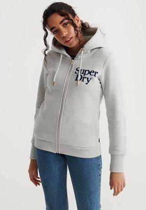 APPLIQUE SERIF  - Zip-up hoodie - applique summer marl