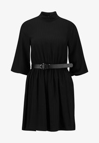 BELTED MINI DRESS WITH BELL SLEEVE - Vestito estivo - black