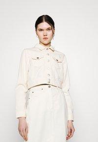 ONLY - ONLWESTA COLOR CROPPED JACKET - Denim jacket - whitecap gray - 0
