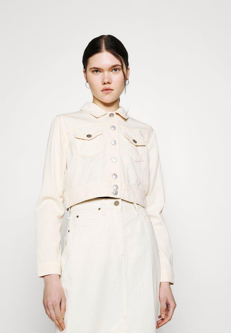 ONLY - ONLWESTA COLOR CROPPED JACKET - Denim jacket - whitecap gray