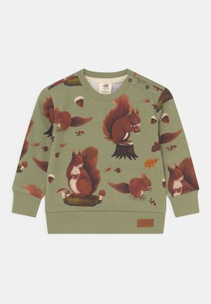 SQUIRREL FAMILY UNISEX - Sweater - green
