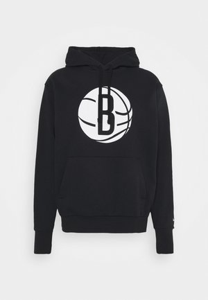 NBA BROOKLYN NETS LOGO HOODIE - Fanartikel - black/white