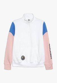 Abercrombie & Fitch - QUARTER ZIP - Sweatshirt - white - 0