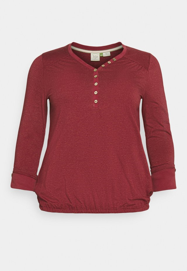 PINCH - T-shirt à manches longues - red