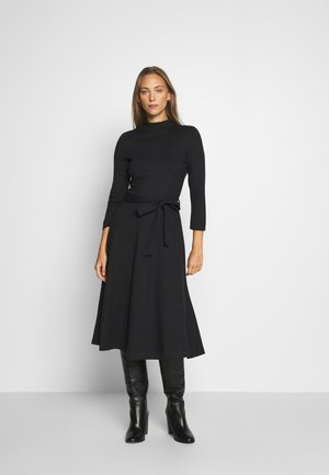 DRESS - Strikket kjole - black