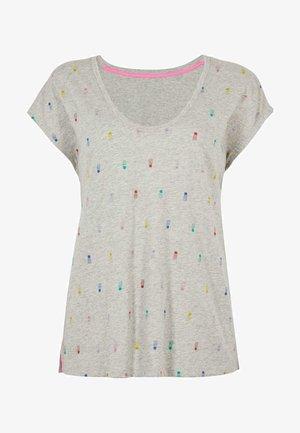 FRÖHLICHES  - Print T-shirt - grau meliert regenbogenfarbene ananas