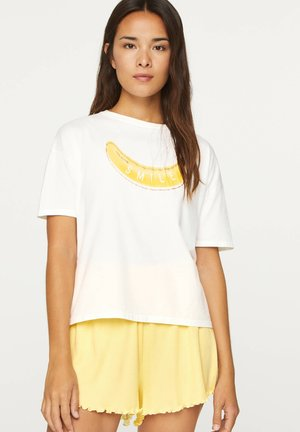 BANANA T-SHIRT - Pyjama top - white