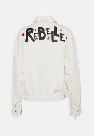 REBELLE DENIM JACKET - Denim jacket - white