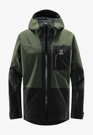 LUMI JACKET - Laskettelutakki - fjell green/true black