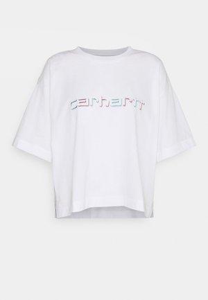 SHADOW SCRIPT - Print T-shirt - white