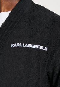 KARL LAGERFELD - LOGO BATHROBE UNISEX - Dressing gown - black - 6