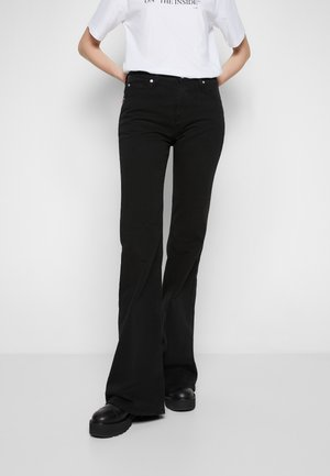 SAN FRAN - Flared jeans - black