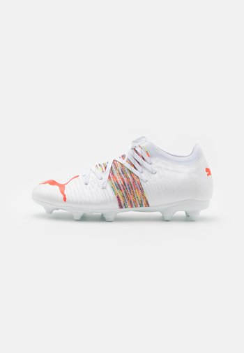 FUTURE Z 2.1 FG/AG JR UNISEX - Moulded stud football boots - white/red blast