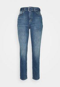 ONLVENEDA LIFE MOM BELT - Relaxed fit jeans - dark blue denim