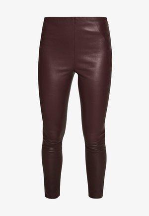 LENA - Leggings - Trousers - burgundy