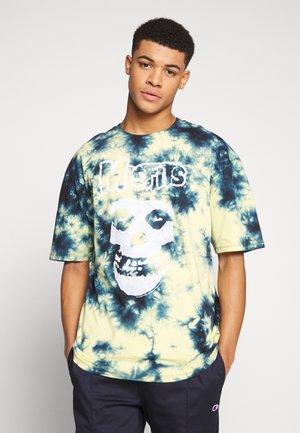 MISFITS TYE DYE - Print T-shirt - blue