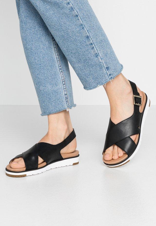 KAMILE - Sandaalit nilkkaremmillä - black