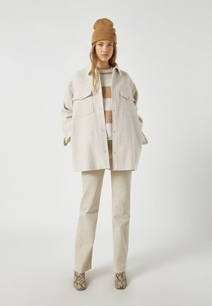 Krátký kabát - mottled beige