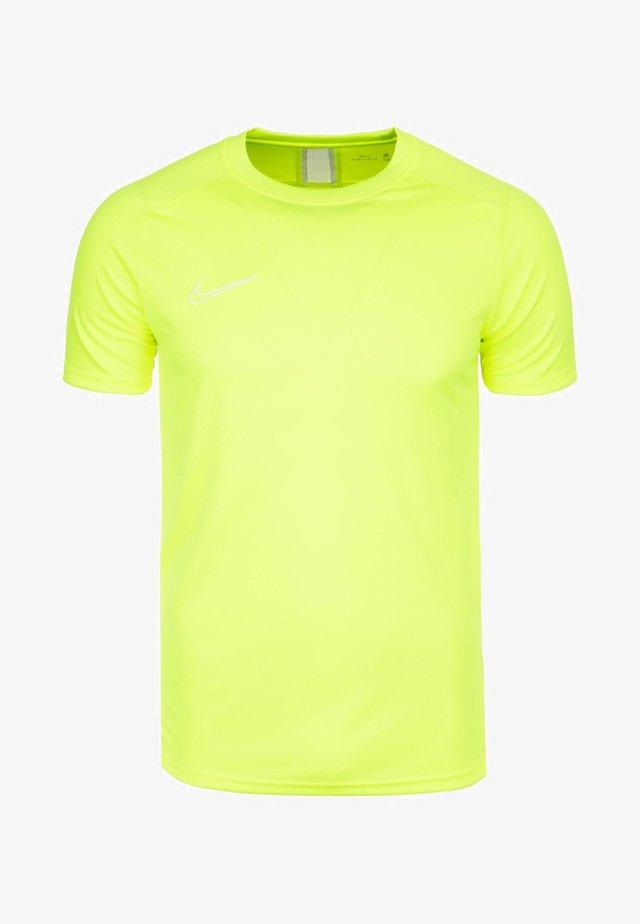 DRY ACADEMY  - Print T-shirt - volt/white
