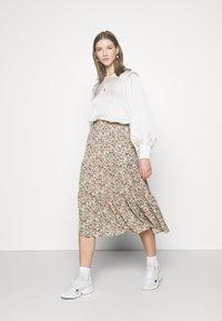 ONLY - ONLKENDALL SKIRT - A-line skirt - pumice stone/green - 1