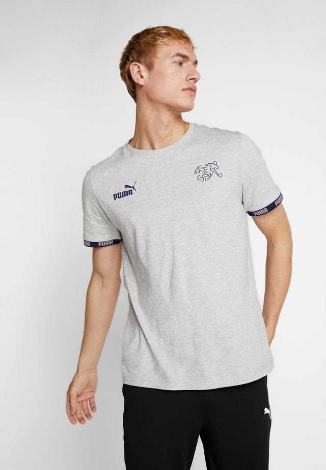 SCHWEIZ SFV CULTURE TEE - Club wear - light gray heather