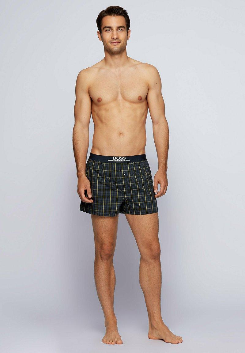 BOSS - PACK OF 2 - Pyjama bottoms - yellow/dark blue