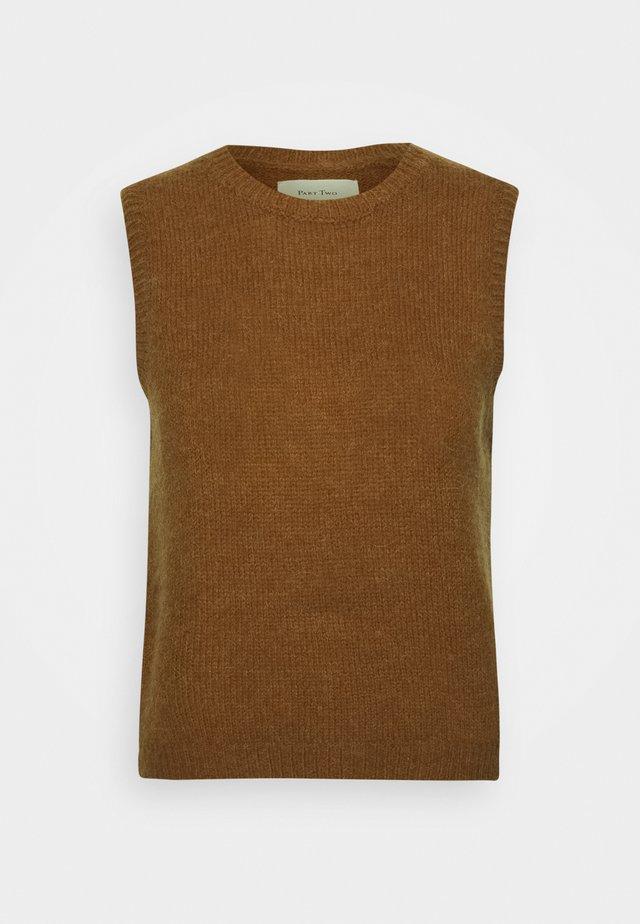 EYJA - Pullover - hazel brown melange