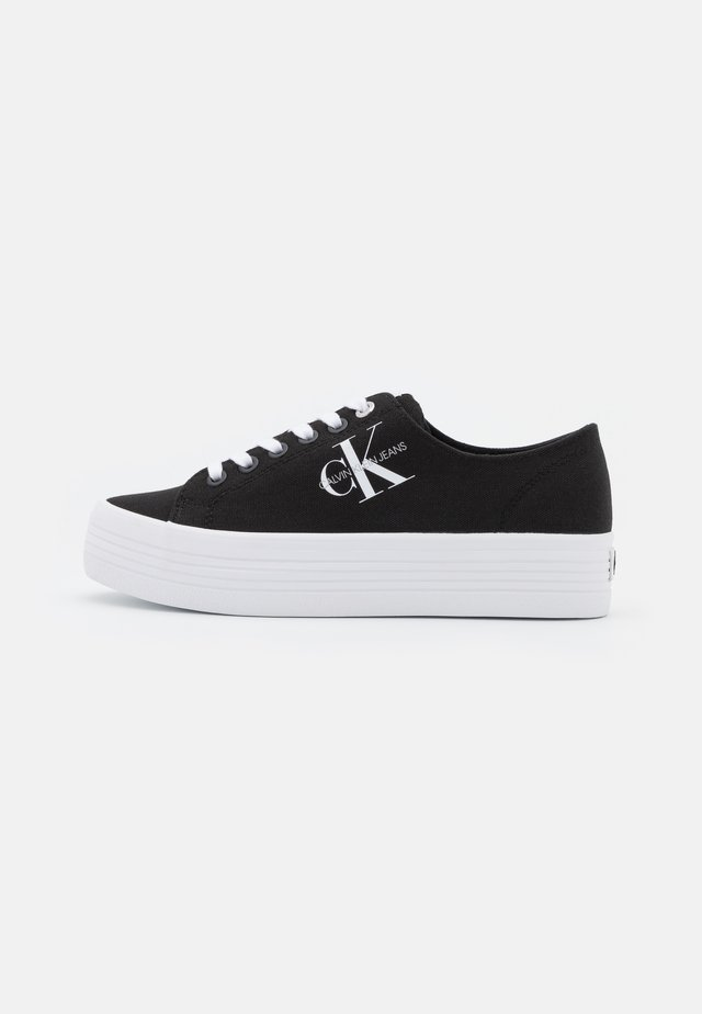 FLATFORM LACEUP - Baskets basses - black