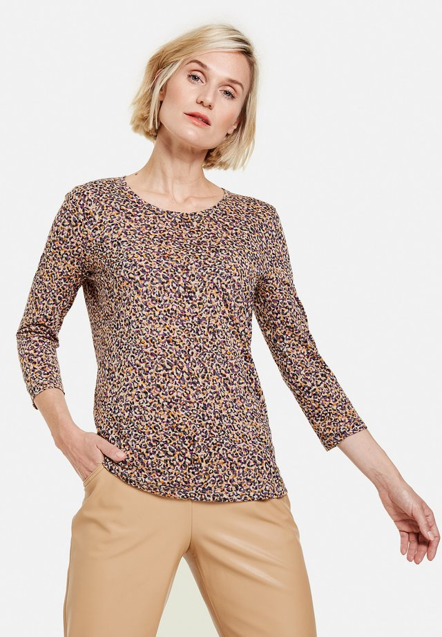 Blouse - gelb/lila/pink druck
