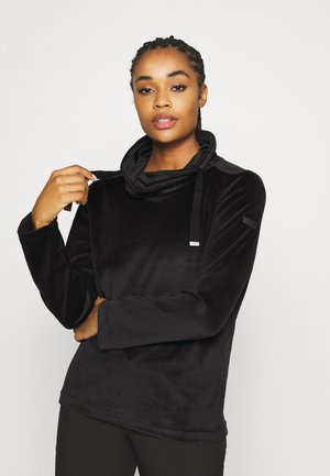 HANNELORE - Fleece jumper - black