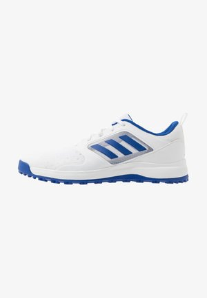 CP TRAXION SL - Golf shoes - footwear white/team royal blue/silver metallic