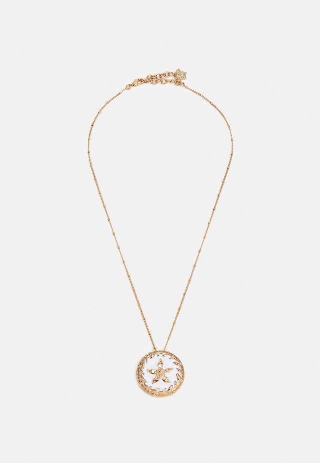 ROUND STAR NECKLACE SMALTO - Necklace - gold-coloured/bianco